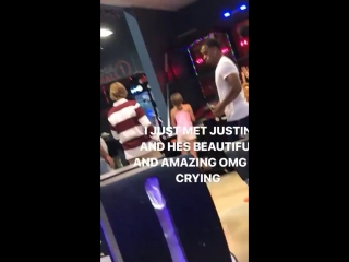 April 5: Another fan taken video of Justin at Sky Zone in Van Nuys, California.