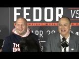 Федор Емельяненко на пресс-конференции Bellator