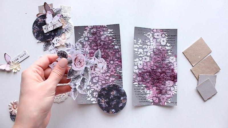 ScanNCut Mixed Media Cards Tutorial by Elena Morgun