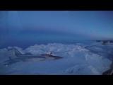 Истребитель МиГ-31 заправился на скорости 500 км/ч в ночном небе над Камчаткой