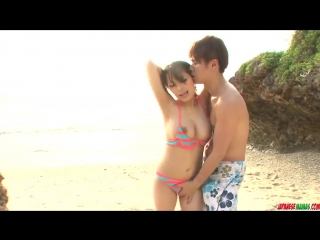 Грудастую мамашку Kyouko Maki трахает на берегу море порно домашнее японское homemade amateur full hd xxx porn любительское milf