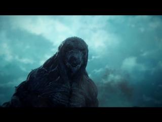 Годзилла: Планета чудовищ / Godzilla: kaijuu wakusei.Трейлер (2017) [1080p]