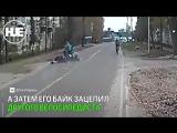 В брянском посёлке байкер сбил двух велосипедистов