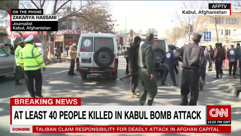 Taliban attacker driving ambulance packed with explosives kills 40 in Kabul