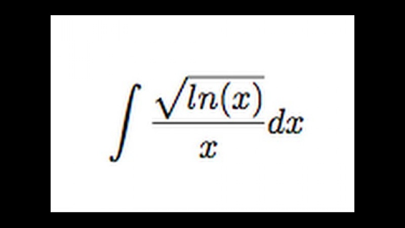 Integral of sqrt(ln(x))/x (substitution)