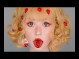 strawberry girl makeup tutorial red lashes and fake freckles