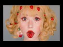 Strawberry girl makeup tutorial / red lashes and fake freckles
