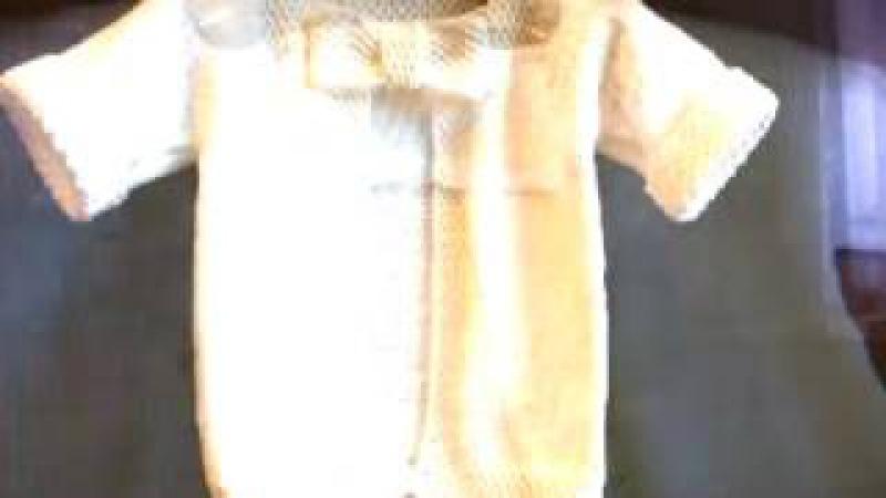 Как связат кофточку ребенку How to tie blouse child