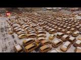 В москве нашли кладбище такси Graveyard cars - cemetery taxi
