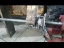 Расточка проушин стрелы погрузчика МКСМ 800.