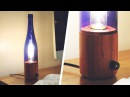 Wood Bottle Lamp - First Lathe Project