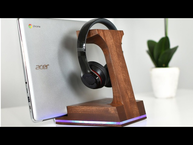DIY LED Headphone Stand