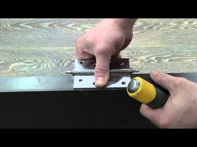 врезка петли при помощи стамески и молотка / hinges inset with a chisel and hammer