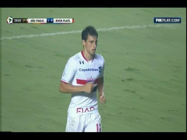 Gol de Calleri São Paulo 2 x 1 River Plate 13 04 2016 Taça Libertadores 2016