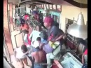 ITALY Dozens of African Migrants raid loot rob an destroy Restaurant in Sardinian Town
