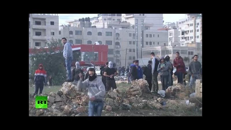 Enfrentamientos entre manifestantes y soldados israelíes en Ramala
