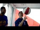 Juventus test their basketball skills with the Harlem Globetrotters!