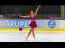 Diana Nikitina Ladies FS Latvia Championship 2017 (with Stephane Lambiel and slow motion)