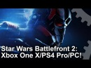 [4K] Star Wars Battlefront 2: Xbox One X vs PS4 Pro vs PC Graphics Comparison!