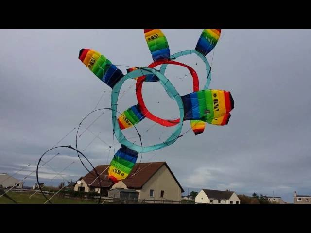 Rotary Kite Airborne Wind Energy System Testing on 3 10 2016