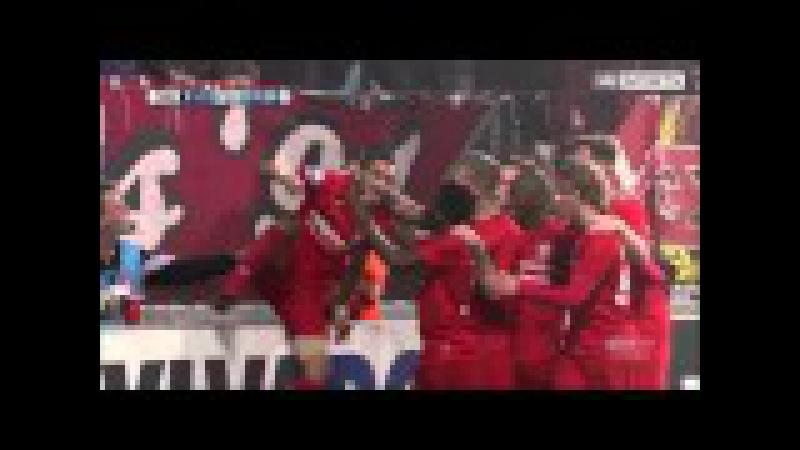 Ouch! Twente's Ziyech in celebration fail