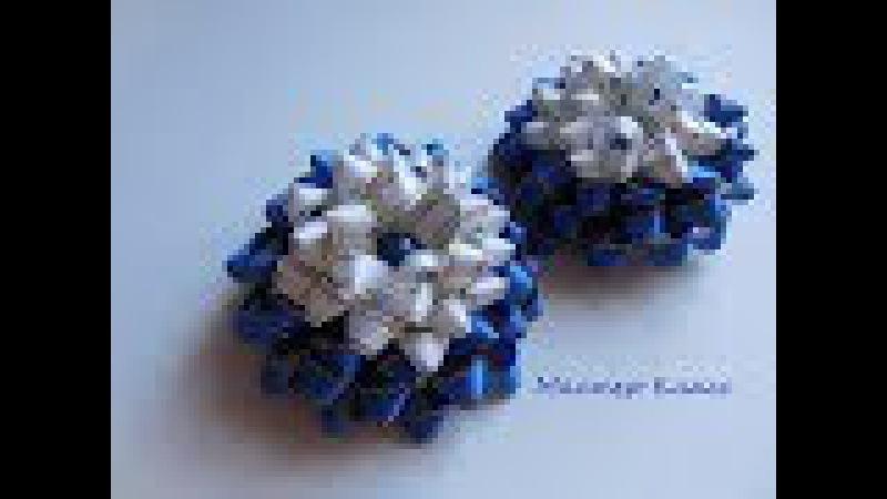 Мастер Класс Подарочный Бант Канзаши Master Class Gift Bow Kanzashi
