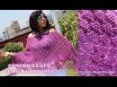 Poncho tejido a crochet para mujer en punto UVAS paso a paso