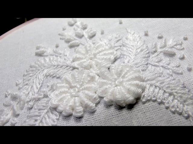 Embroidery Bullion Knot Stitch Вышивка Конус Рококо