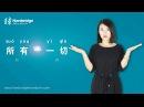 Hanbridge mandarin Chinese HSK Grammar video:How to differentiate 所有 and 一切