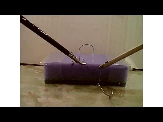 Лапароскопическая тренировка. Непрерывный обвивной шов Абердиниев узел.