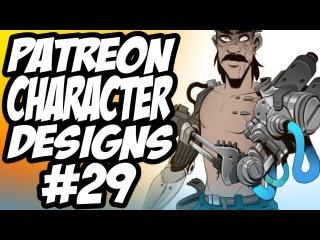 Patreon Character Designs #29 - Mecha Gambler / Synthetic Barbarian