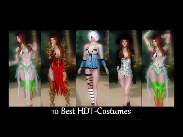 Skyrim Mods: 10 Best HDT-Costumes p1 (Female)