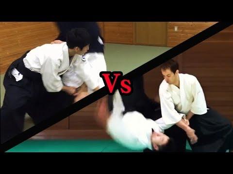 ハイレベルな合気道の攻防02 Aikido Dynamic Throwing to each other part2