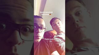 Gustav Schäfer Instagram Story i [28.04.2018] - Back in good old Germany! 🇩🇪 Thanks again ❣️
