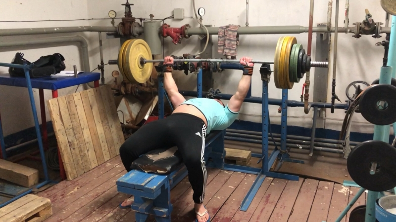 Жим 167,5kg