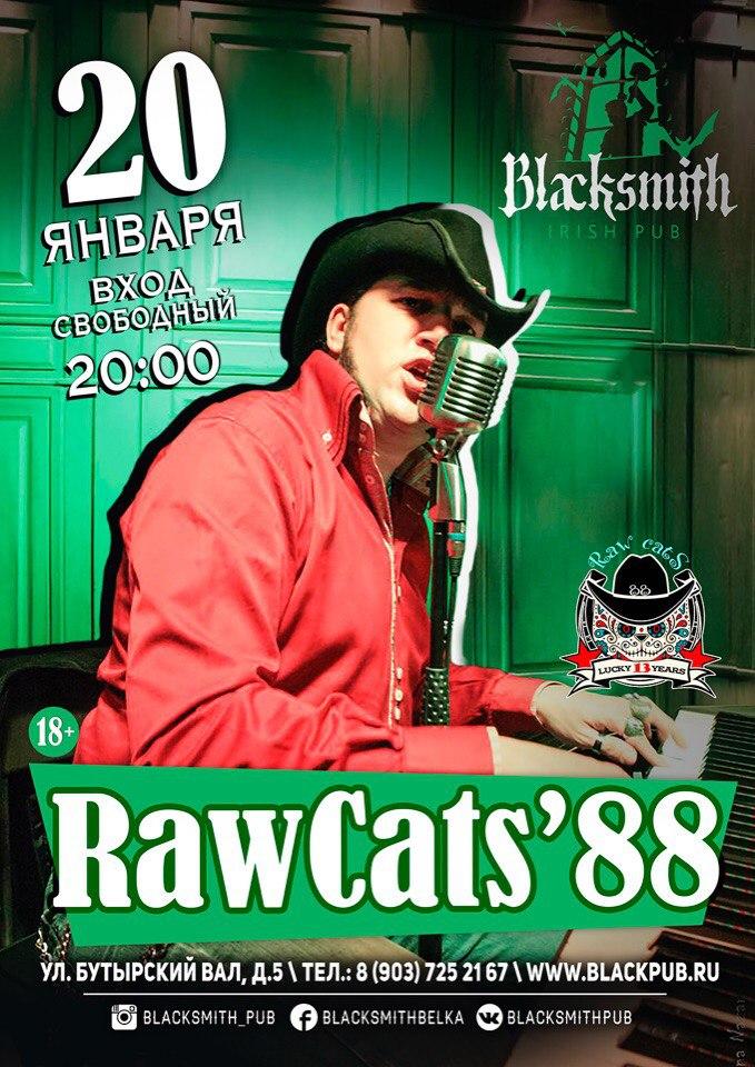 20.01 Raw Cats' 88 в пабе Blacksmith!