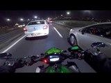 Kawasaki Z1000 Night Rush in Istanbul Traffic!