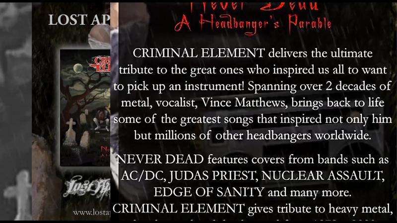 """Criminal Element Never dead a headbangers parable"""" criminalelement fetaldecay vincematthews"""