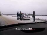 ДТП на Сарапульском тракте😦Фура столкнулась с ВАЗ 2107. Водитель жигулей погиб...