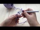 Вязаная корзинка крючком из трикотажной пряжи Урок-1 Магическаяскользящая петл
