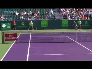 Classic backhand down the line from Nishikori
