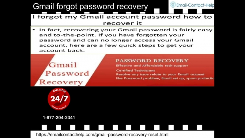 Join Gmail Forgot Password Recovery, a smart decision to manage GMAIL Privacy.. 1-877-204-2341