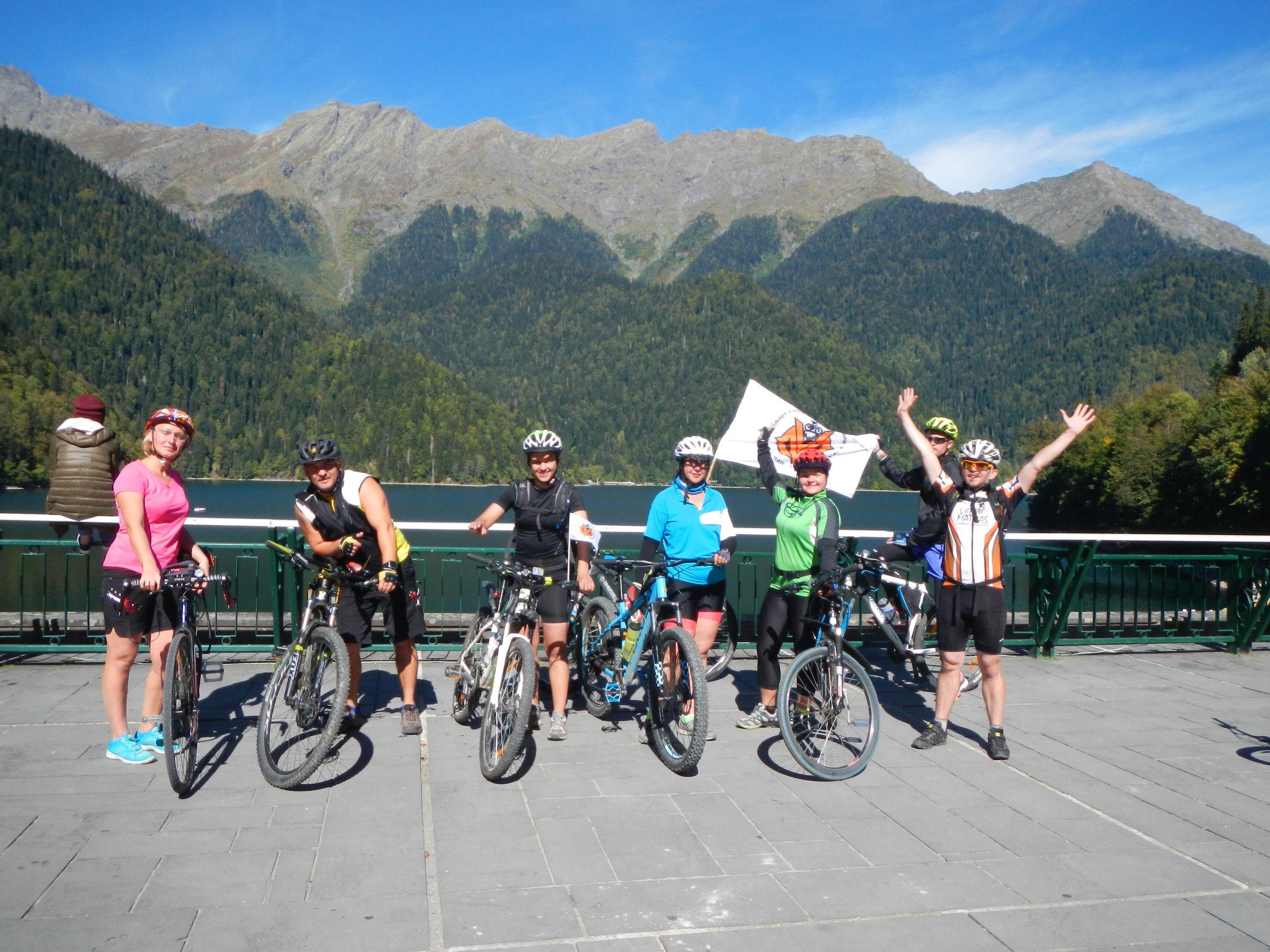 Очередной велотур по Абхазии завершен