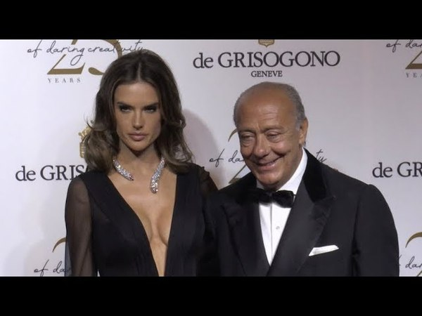 Alessandra Ambrosio and Fawaz Gruosi at the De Grisogono Party