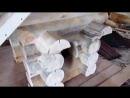 Собачья будка из цилиндрованного бруса