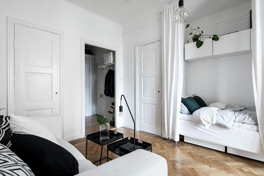 Скандинавская квартира-студия 26 м.