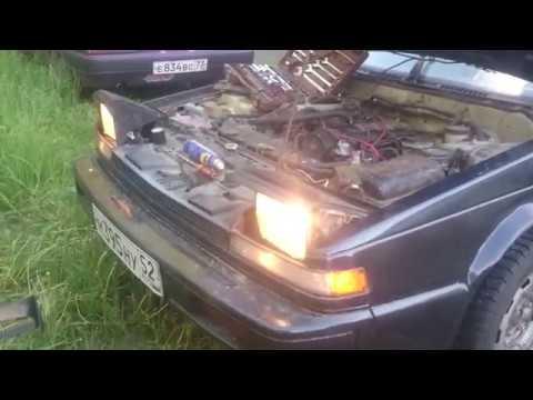 Nissan Silvia S12. Починили фары изолентой...)