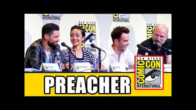 PREACHER Comic Con Panel Part 1 Dominic Cooper Ruth Negga Joseph Gilgun Seth Rogen