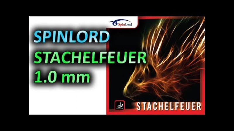 SPINLORD Stachelfeuer 1 0 mm on Off blade SPINLORD RD 2 long pips technique