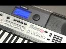 Транспонирование выбор строя и общая подстройка на инструменте Yamaha PSR E443